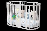 """Детская Овальная кроватка 6 в 1 """"Эстель""""Можгинский лесокомбинат(белая,сл.кость), фото 3"""