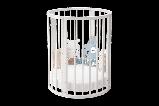 """Детская Овальная кроватка 6 в 1 """"Эстель""""Можгинский лесокомбинат(белая,сл.кость), фото 4"""