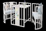 """Детская Овальная кроватка 6 в 1 """"Эстель""""Можгинский лесокомбинат(белая,сл.кость), фото 5"""