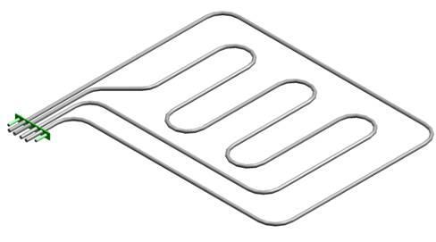 ТЭН В2-216/280-7,5/8,5/3,4Т220 верхний для духовок ЖШ АВАТ с конвекцией