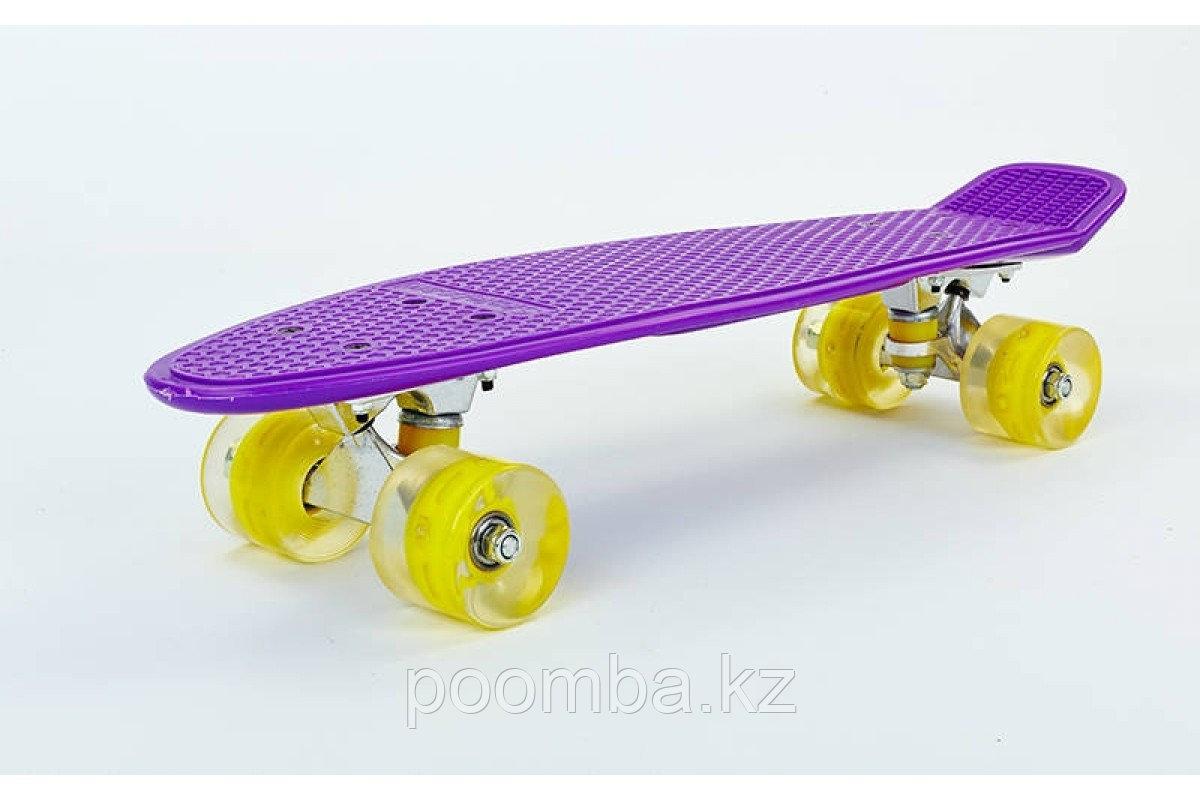 "Penny Board""Фиолетовый""с свет.колесами оригинал"