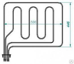 ТЭН В2-216/280-7,5/8,5, 5/2,5Т220 верхний для духовки от Европлит и шкафов с конвекцией