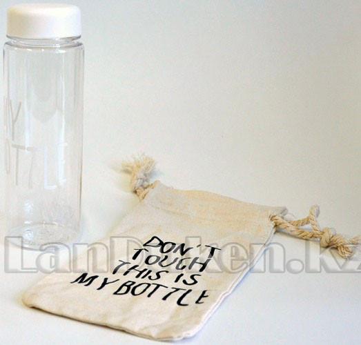 Бутылочка с чехлом для напитков My Bottle 500 мл ( май батл белая) - фото 2