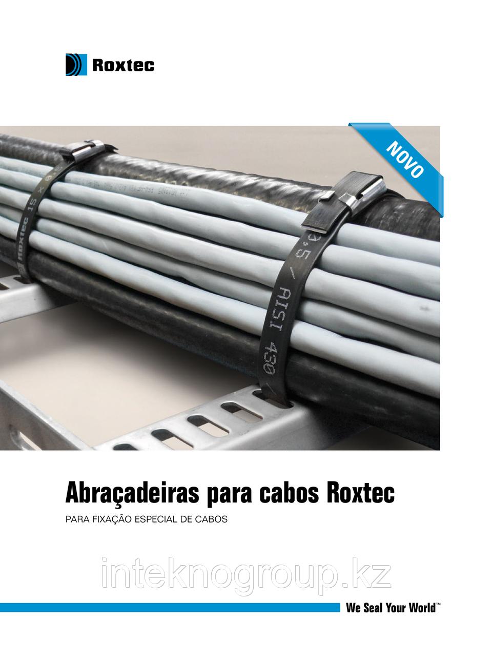 Roxtec Cable straps Strap 08x0,3 black/ss. L=600 mm