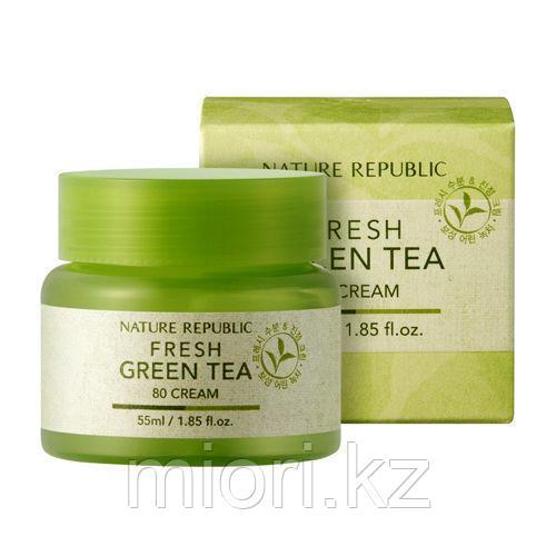 Гель-крем с экстрактом зелёного чая Nature Republic Fresh Green Tea Cream,55мл