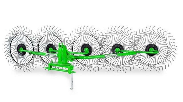 Грабли-ворошилка навесные 5-колёсные