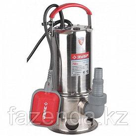 Погружной насос для грязной воды ЗУБР , корпус из нержавеющей стали, пропускная способность 10000 л.