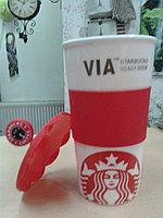 Термокружка Starbucks VIA красная, 320 мл
