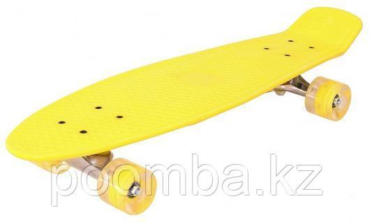 Penny Board Жёлтый с светящимися колесами