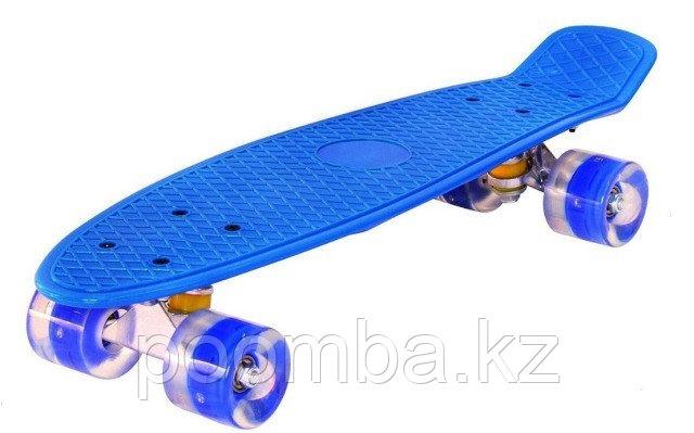 Penny Board Синий с светящимися колесами