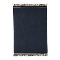 Ковер безворсовый 170х240 СТОКГОЛЬМ 2017 ручная работа синий ИКЕА, IKEA, фото 1