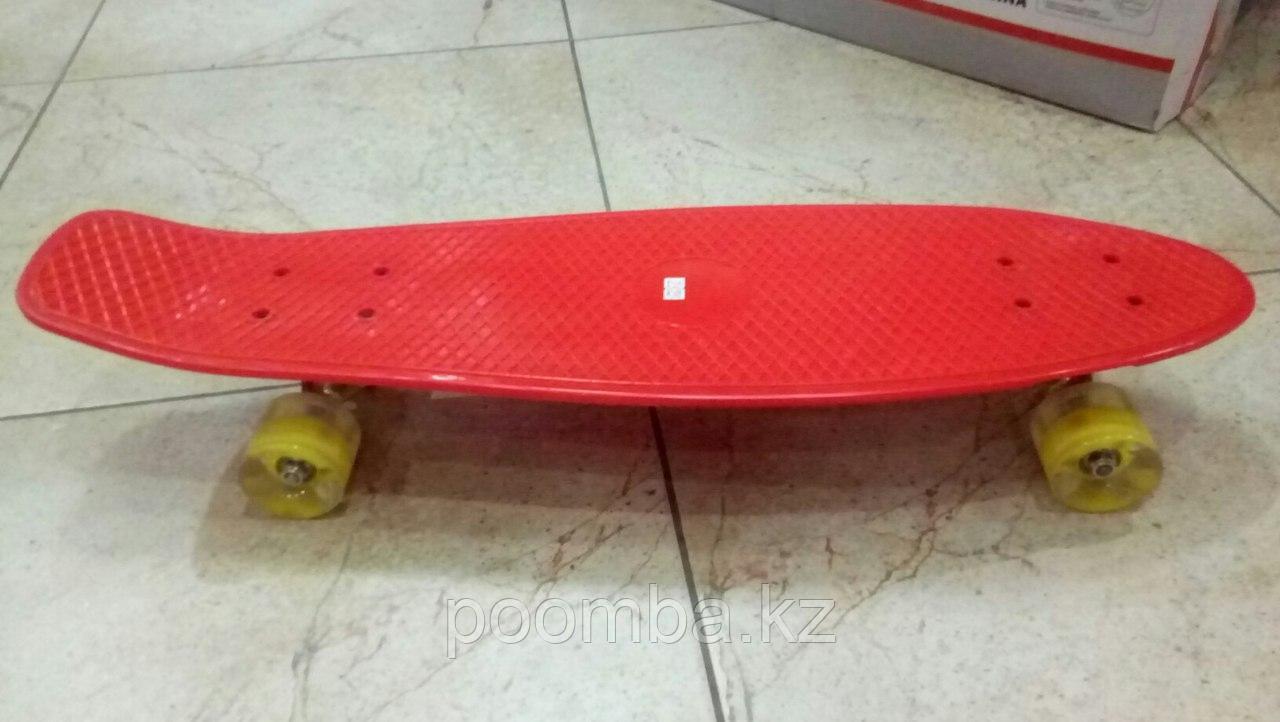 """Penny Board""""Красный""""с свет.колесами"""
