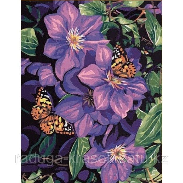"""Картины стразами на подрамнике """"Бабочки в цветах"""""""