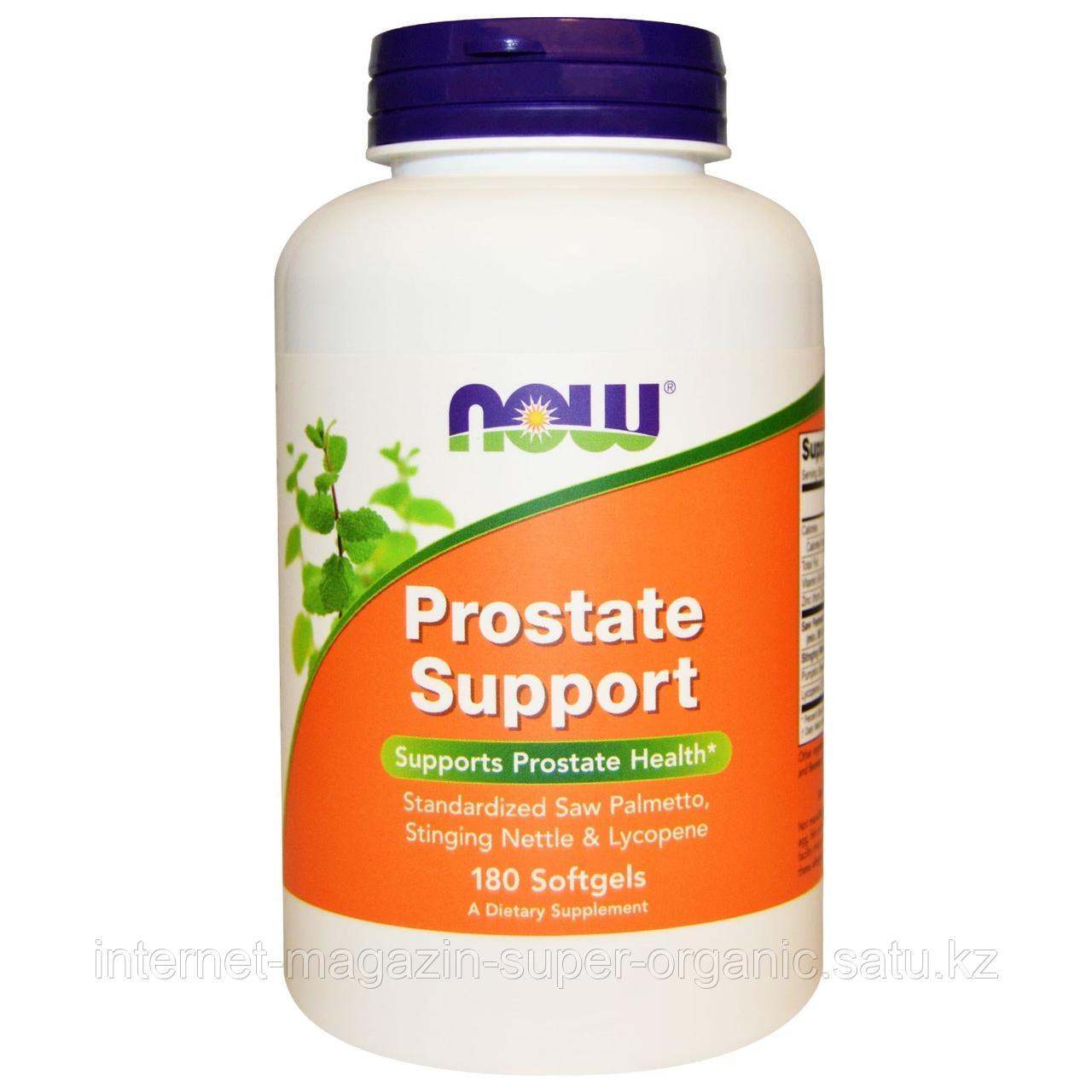 Prostate Support (поддержка предстательной железы, простаты), 180 желатиновых капсул, Now Foods