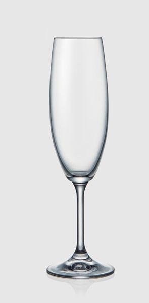 Бокалы Laura 220мл для шампанского 6шт. богемское стекло, Чехия 40415--220. Алматы