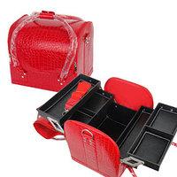 Чемодан-кейс для визажистов и мастеров маникюра красный