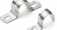 Скоба металлическая 2-лапковая d 19-20 мм (100), шт