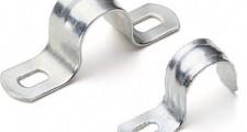 Скоба металлическая 2-лапковая d 21-22 мм (100), шт