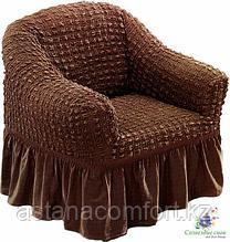 Натяжные чехлы на кресла. Шоколад