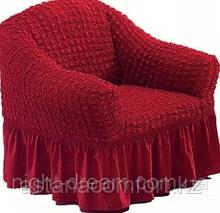 Натяжные чехлы на кресла. Бордовый