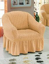 Натяжные чехлы на кресла. Какао