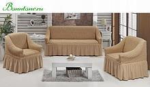 Натяжные чехлы на мягкую мебель. Набор 3+1+1