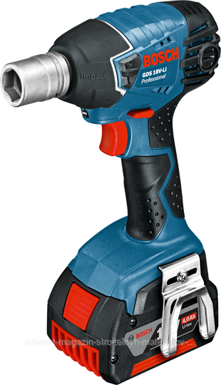 Аккумуляторный ударный гайковёрт Bosch GDS 18 V-LI