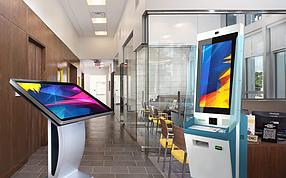 Интерактивные сенсорные панели для банков