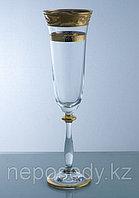 Фужеры Angela 190мл шампанское 6шт. 502/36/6 flet a.maha.pr.zl. Алматы