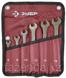 Набор из 6 гаечных ( рожковых) ключей