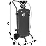Установка для слива и откачки масла через щуп с воронкой 80л, АРАС (Италия), фото 4