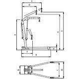 Кран гаражный, г/п 1000 кг, складной, двухтактный насос ОМА 590 (Италия), фото 3