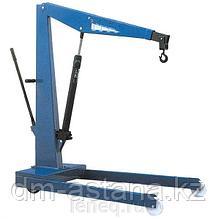 Кран гаражный, г/п 500 кг, складной,  двухтактный насос, низкопрофильное основание (Н=85 мм) ОМА 589B (Италия)