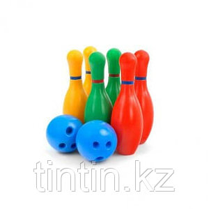 Боулинг в сетке, 6 кеглей, 2 шарика