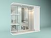 Шкаф навесной с зеркалом Лотос 700 мм 1 дверь+ 2 полки