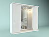 Шкаф навесной с зеркалом Лотос 850 мм 2 двери