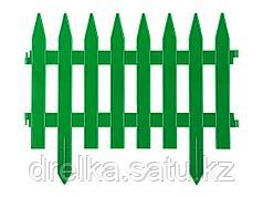 Забор декоративный GRINDA КЛАССИКА, 28x300см, зеленый, 422201-G