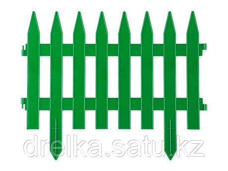 Забор декоративный GRINDA КЛАССИКА, 28x300см, зеленый, 422201-G , фото 2