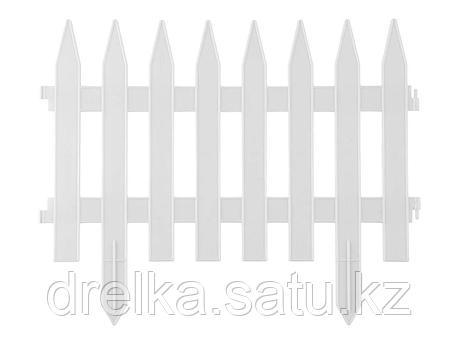 Забор декоративный GRINDA КЛАССИКА, 28x300см, белый, 422201-W , фото 2