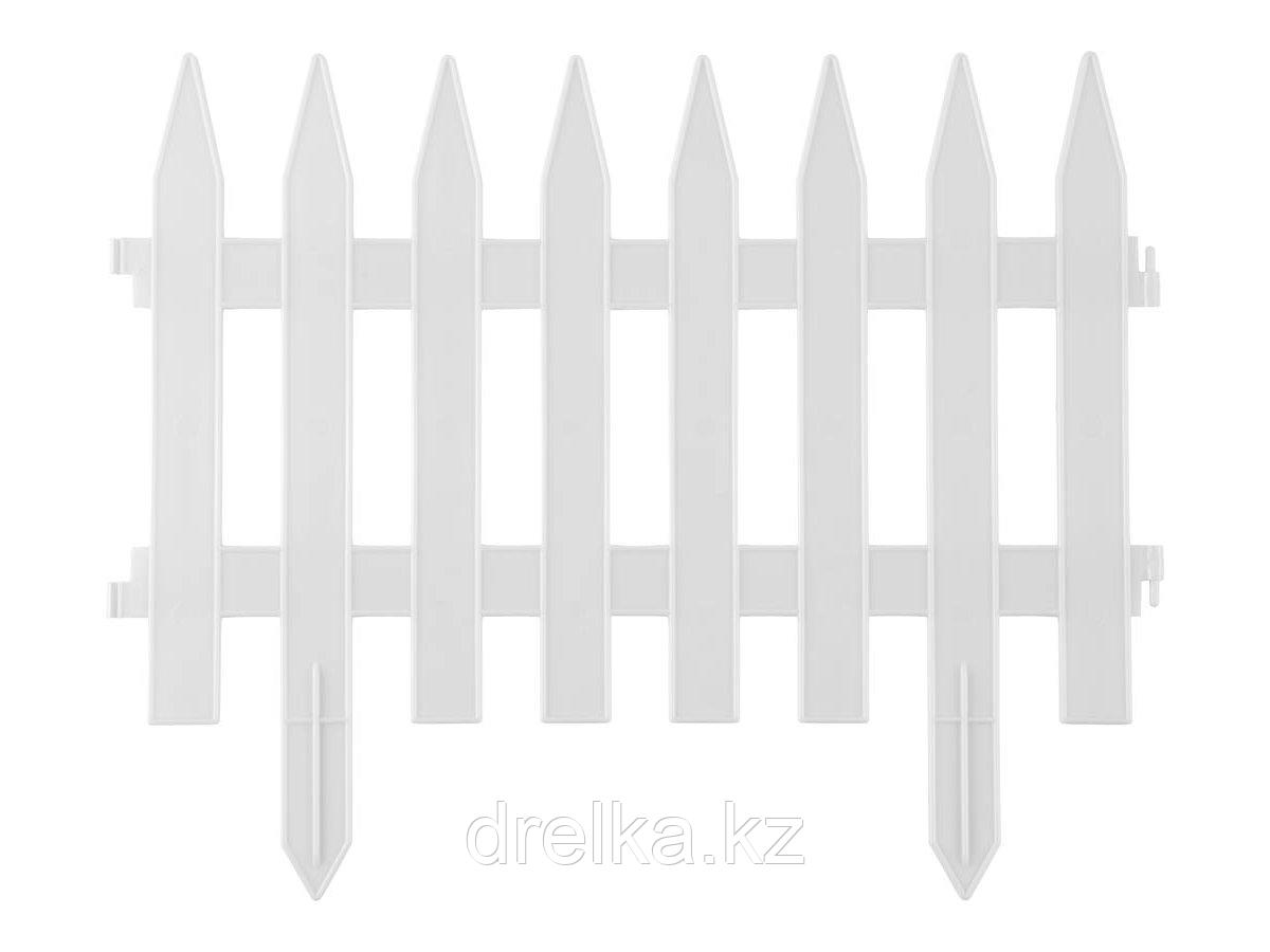 Забор декоративный GRINDA КЛАССИКА, 28x300см, белый, 422201-W