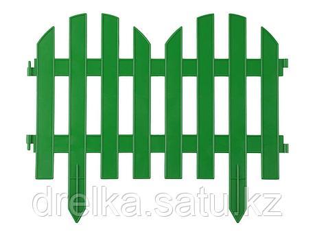 """Забор декоративный GRINDA """"ПАЛИСАДНИК"""", 28x300см, зеленый, фото 2"""