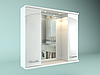 Шкаф навесной с зеркалом Дуга 800 мм 2 двери