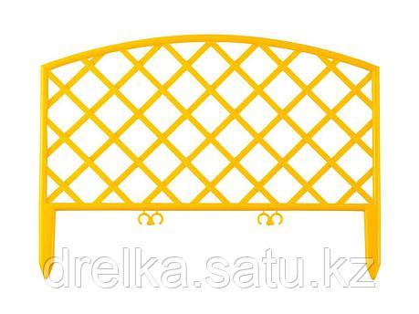 """Забор декоративный GRINDA """"ПЛЕТЕНЬ"""", 24x320см, желтый, фото 2"""