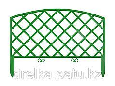 """Забор декоративный GRINDA """"ПЛЕТЕНЬ"""", 24x320см, зеленый"""