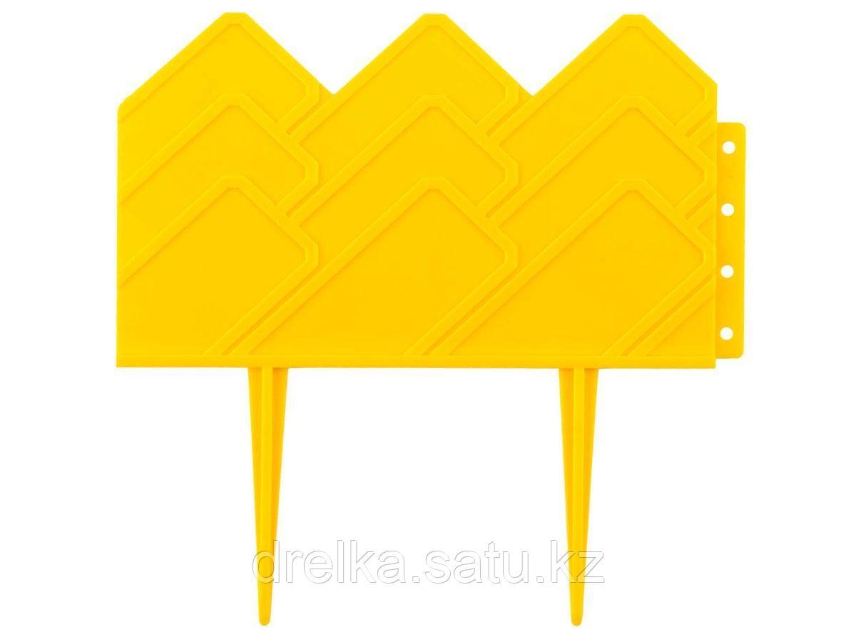 Бордюр декоративный GRINDA, 14х310см, желтый