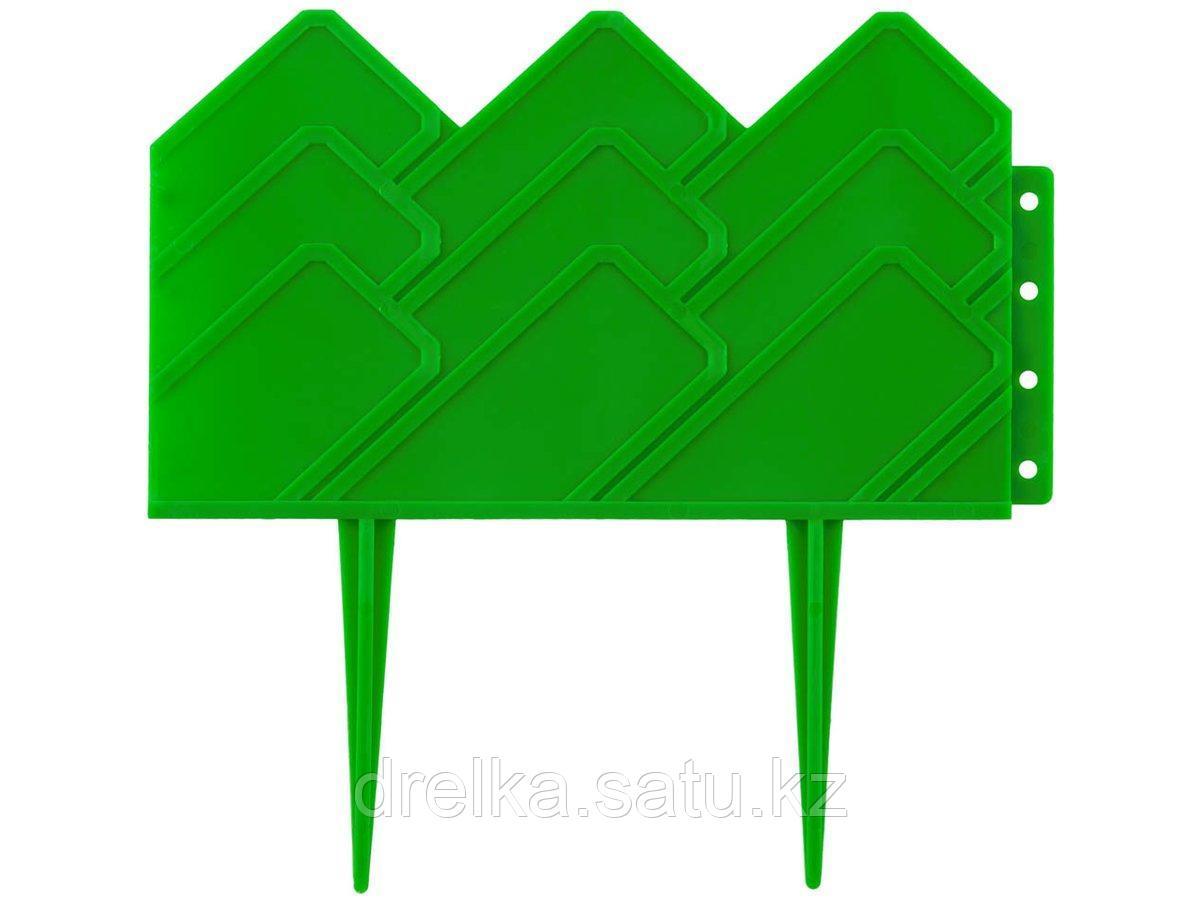 Бордюр декоративный GRINDA, 14х310см, зеленый