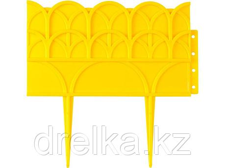 Бордюр декоративный GRINDA, 14х310см, желтый, фото 2