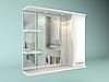 Шкаф навесной с зеркалом Орхидея 850 мм 1 дверь + 2 полки