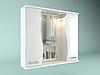 Шкаф навесной с зеркалом Орхидея 750 мм 2 двери