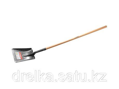 Лопата ЗУБР МАСТЕР ЗАВИДОВО совковая, деревянный черенок из дуба, 320х250x1500мм, 39361_z01 , фото 2